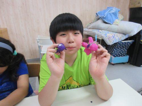 20190801_夏祭り工作(お面作り、金魚すくい) (34)