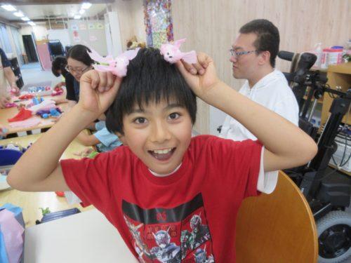 20190801_夏祭り工作(お面作り、金魚すくい) (37)