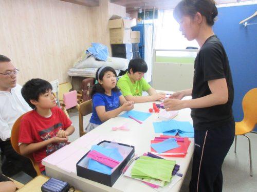 20190801_夏祭り工作(お面作り、金魚すくい) (9)